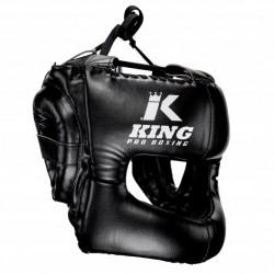 Casque en cuir noir King