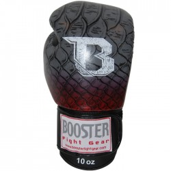 "Boxing Gloves Booster grey/red ""BGL PRO Snake Red"", Muay Thai, Thai Boxing, Kickboxing, K-1"