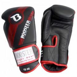 "Boxing Gloves Booster Red ""BGL 1 V3 BLACK/RED FOIL"", Muay Thai, Thai Boxing, Kickboxing, K-1"