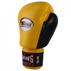 "Boxing Gloves Twins yellow and black ""Bgvl 3"", Muay Thai, Thai Boxing, Kickboxing, K-1"