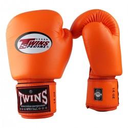 """Gants de Boxe Twins orange """"Bgvl 3"""", Muay Thai, Boxe Thai, Kickboxing, K-1"""