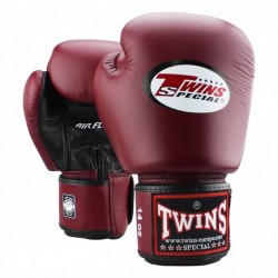 """Gants de Boxe Twins Air rouge bordeau """"Bgvl 3"""", Muay Thai, Boxe Thai, Kickboxing, K-1"""