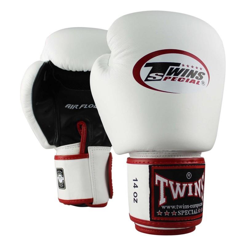 """Gants de Boxe Twins blanc""""Air Bgvl 3"""", Muay Thai, Boxe Thai, Kickboxing, K-1"""