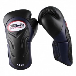 "Boxing Gloves Twins Black and blue ""Bgvl 6"", Muay Thai, Thai Boxing, Kickboxing, K-1"