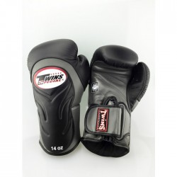 "Boxing Gloves Twins black and grey ""Bgvl 6"", Muay Thai, Thai Boxing, Kickboxing, K-1"