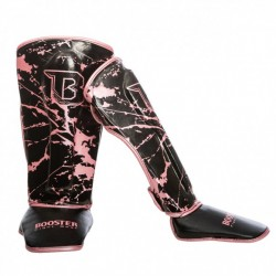 """Shinguards Booster pink """" SG YOUTH MARBLE"""", Muay Thai, Thai Boxing, Kickboxing, K-1"""